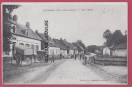 62 - FOSSEUX----Rue D'Arras--attelage--animé - Autres Communes