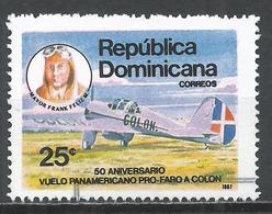 Dominican Republic 1987. Scott #1018 (U) Frank Feliz, Sr. And Aircraft * - Dominicaine (République)