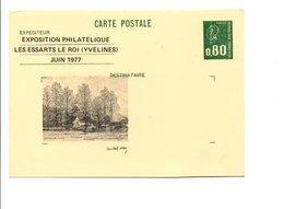 ENTIER BEQUET REPIQUE EXPO PHILA. LES ESSARTS LE ROI YVELINES 1977 - Enteros Postales