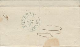 370/27 - Lettre Précurseur BRUXELLES 1832 Vers TOURNAY En BLEU - Griffe PORT PAYE , Port 20 Cents Au Verso - 1830-1849 (Belgique Indépendante)
