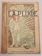 RIVISTA  LA PLUME  N.198  15 Juillet 1897   Illustrazione Di Copertina   ALPHONSE MUCHA - Cromo