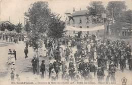 SAINT FLORENT - Concours De Pêche Du 23 Juillet 1905 - Défilé Des Sociétés - Départ De La Gare - Frankreich