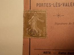 RARE Marcophilie  Cachet Lettre Obliteration - Timbre N°276A Sur Carte D'Electeur (2139) - Postmark Collection (Covers)