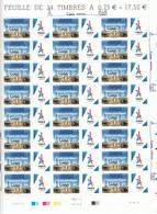 Francia 2017- Foglio Completo Nuovo Di 24 Timbres Olimpiadi Parigi 2024 Sovrastampato Lima 13/9/2017 - Summer 2024: Paris