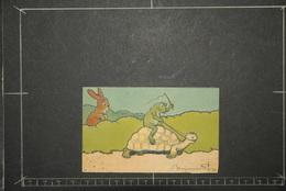 Chromos Et Images, Chromos Illustration Le Lievre Et La Tortue Tortue Montée Par La Grenouille Benjamin Rabier - Unclassified
