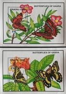 Ghana 1992 Butterflies S/S Pair - Ghana (1957-...)