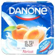 """Opercule Cover Yaourt Yogurt """" Danone """" Au Lait Frais Abricot Apricot Yoghurt Yoghourt Yahourt Yogourt Square Carré - Opercules De Lait"""