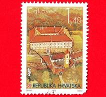 CROAZIA - Usato - 1995 - Città Croate (III) - Cakovec - Castello Di Zrinski - 1.40 - Croazia