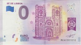 Billet Touristique 0 Euro Souvenir Portugal Se De Lisboa 2018-1 N°MEAF001010 - Private Proofs / Unofficial