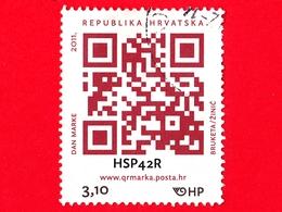 CROAZIA - Usato - 2011 - Giornata Del Francobollo - Bar Code - 3.10 - Croazia