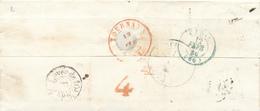 373/27 - Lettre Précurseur PARIS 1846 Vers TOURNAY- Confusion France Puis Belgique  - Verso Chiffre De VACATION 4 - 1830-1849 (Belgique Indépendante)