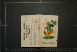 Calendriers, Calendrier Petit Format 1952 Meilleurs Voeux Canard  1 Page Par Mois Maison G COCAT ANTONY Seine - Calendars
