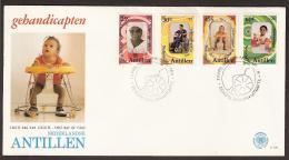 Nederlandse Antillen 1981 FDC Handicaped Children, Handicaps, Behinderungen - Handicaps
