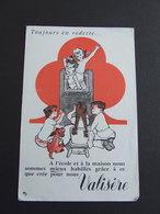 VALISERE TOUJOURS EN VEDETTE RARE BUVARD 1950 - Textile & Clothing