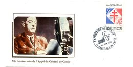Thème Général De Gaulle - Bureau Temporaire CHATELAILLON - 18 Juin 1990 - R 5430 - De Gaulle (General)