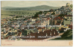 CARTOLINA GIBILTERRA A BIRD'S EYE VIEW OF THE TOWN GIBRALTAR - Gibilterra