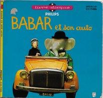 """Livre-disque 45t. """" Babar Et Son Auto"""" - Children"""