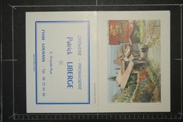 Calendriers, Calendrier 1989 Petit Format Peinture Aquarelle Publicité Cremerie Fromagerie LIBERGE LOUHANS 71500 - Petit Format : 1981-90