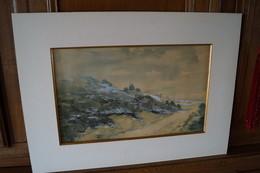 Superbe Oeuvre De L'artiste S.Douxchamps ,originale,dessins Aquarelle,59 Cm. Sur 43 Cm.Namur - Watercolours