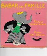 """François Perier & Jean Desailly Livre-disque 45t. """"babar En Famille"""" - Children"""
