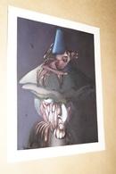 Superbe Dessin Aquarelle,signature à Identifier,La Sorcière,ésotérisme,sorcellerie,30 Cm.sur 24 Cm.Fantastique - Watercolours