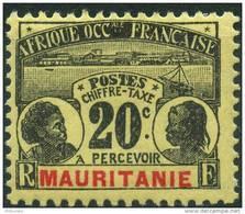Mauritanie (1906) Taxe N 12 * (charniere) - Mauritanie (1906-1944)