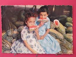 Afrique - Petites Filles Mangeant Des Pastèques - L'heure Du Goûter - Scans Recto Verso - Non Classés