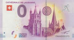 Billet Touristique 0 Euro Souvenir Suisse Cathédrale De Lausanne 2018-1 N°CHAV000375 - EURO
