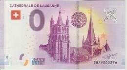 Billet Touristique 0 Euro Souvenir Suisse Cathédrale De Lausanne 2018-1 N°CHAV000376 - EURO