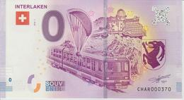 Billet Touristique 0 Euro Souvenir Suisse Interlaken 2018-1 N°CHAR000370 - Essais Privés / Non-officiels