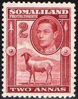 SOMALILAND, PROTETTORATO BRITANNICO, BRITISH PROTECTORATE, FAUNA, ANIMALI,GIORGIO VI, 1938,  NUOVI SENZA GOMMA Scott86 - Somaliland (Protettorato ...-1959)