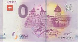 Billet Touristique 0 Euro Souvenir Suisse Lucerne 2018-1 N°CHBA000264 - Essais Privés / Non-officiels