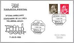 OFICINA AMBULANTE - CENT. LINEA VILLABONA-AVILES. T.P.O. 1990. Asturias - Correo Postal