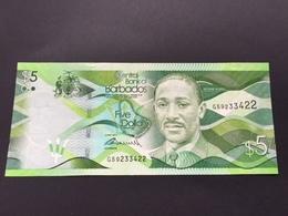 BARBADOS 5 DOLLARS 2013 UNC - Barbados