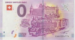 Billet Touristique 0 Euro Souvenir Suisse Swiss Vapeur Parc 2018-2 N°CHAF004774 - Essais Privés / Non-officiels