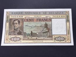BELGIUM P126 100 FRANCS 30.08.1949 AUNC - [ 2] 1831-... : Royaume De Belgique