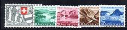 301/1500 - SVIZZERA 1952 , Unificato N. 521/525  ***  MNH  Pro Patria - Nuovi