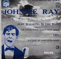 """Johnny Ray 45t. EP """"walking And Crying"""" - Vinyl Records"""