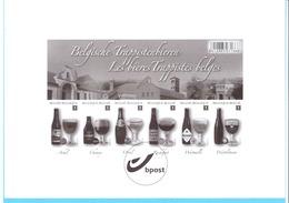 België-Belgique-2012-Trappistenbieren-Bières Trappistes Belges-Bière Trappiste-Timbres Non Dentellés-feuillet Noir/blanc - Zwarte/witte Blaadjes
