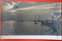 CROATIA - HRVATSKA , POLA - PULA , PORTO ORIGINAL PHOTO 1906 - Croatie