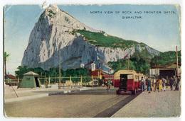 CARTOLINA GIBILTERRA NORTH VIEW OF ROCK AND FRONTIER GATES GIBRALTAR - Gibilterra
