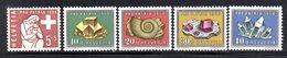 302/1500 - SVIZZERA 1958 , Unificato N. 606/610  ***  MNH  Pro Patria - Nuovi