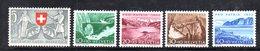 303/1500 - SVIZZERA 1953 , Unificato N. 531/535  ***  MNH  Pro Patria - Nuovi