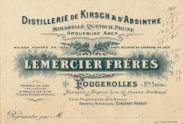 LEMERCIER FRERES, Distillerie Kirsch Et D'Absinthe, Mirabelle, Quetsch, Prune, Arquebuse, Amer, Fougerolles, Haute-Saône - Publicités