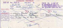 Ancien Exemplaire Des Chèques Postaux (1966), 35,00 F, Le Mesnil-le-Roi, Maisons-Laffitte, Bordeaux - Assegni & Assegni Di Viaggio