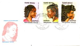GUINEE-BISSAU. Timbres De 1989 Sur Enveloppe 1er Jour. Coiffures. - Guinea-Bissau