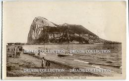 CARTOLINA GIBILTERRA ROCK FROM THE SPANISH BEACH GIBRALTAR - Gibilterra