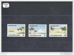 COCOS 1991 - YT N° 237/239 NEUF SANS CHARNIERE ** (MNH) GOMME D'ORIGINE LUXE - Cocos (Keeling) Islands