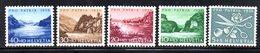 307/1500 - SVIZZERA 1956 , Unificato N. 576/580  ***  MNH  Pro Patria - Nuovi
