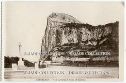 CARTOLINA GIBILTERRA THE GALLERIES & CROSS OF SACRIFICE GIBRALTAR - Gibilterra